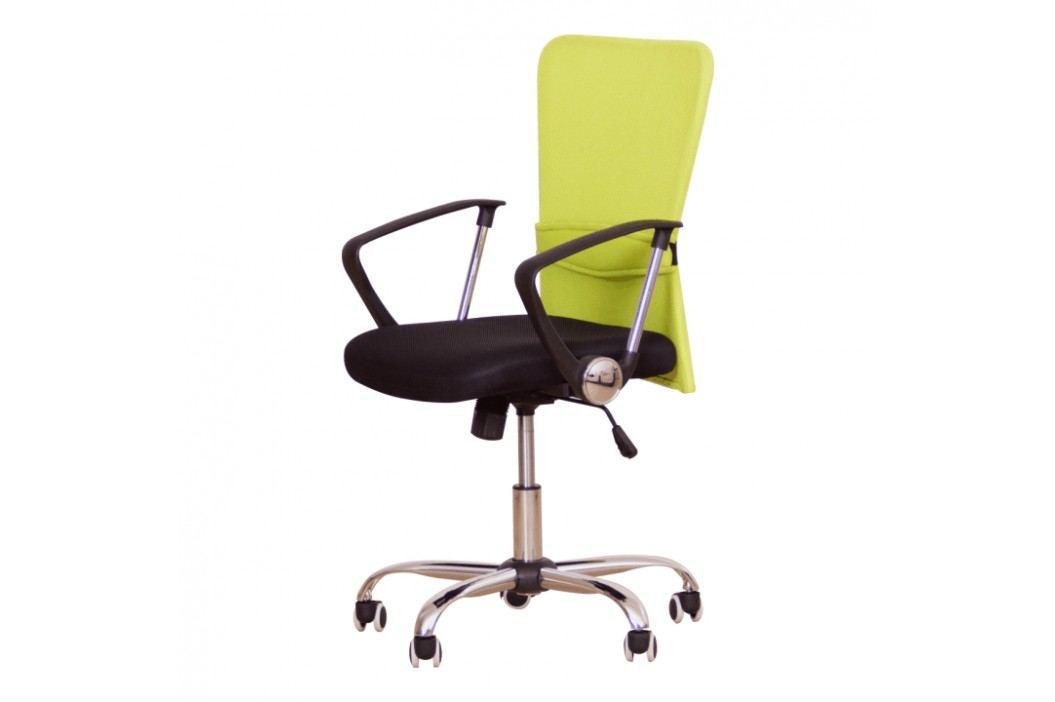 Kancelářské křeslo, s černým sedákem, zelená opěrka, AEX