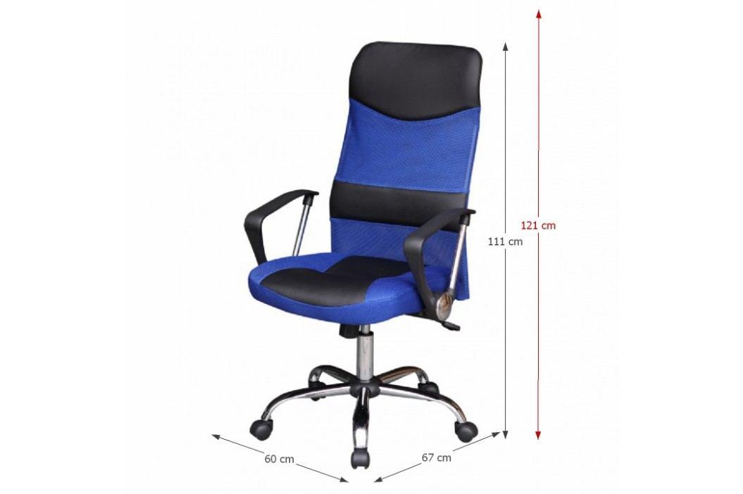Kancelářské křeslo, černo/modré, TC3-973M