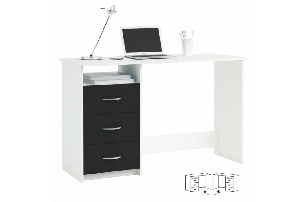 PC stolek, bílá/černá, LARISTOTE 304375