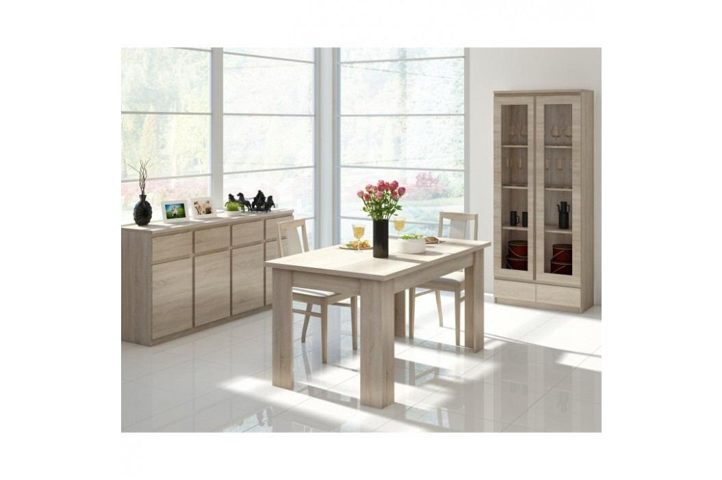 PC stůl, typ 10, jednodveřový, jednozásuvkový, dub sonoma, PANAMA