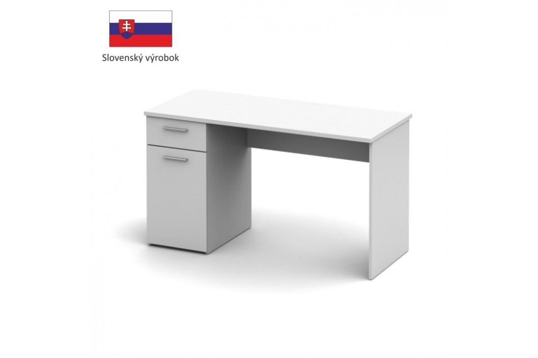 PC stůl, bílá, EGON