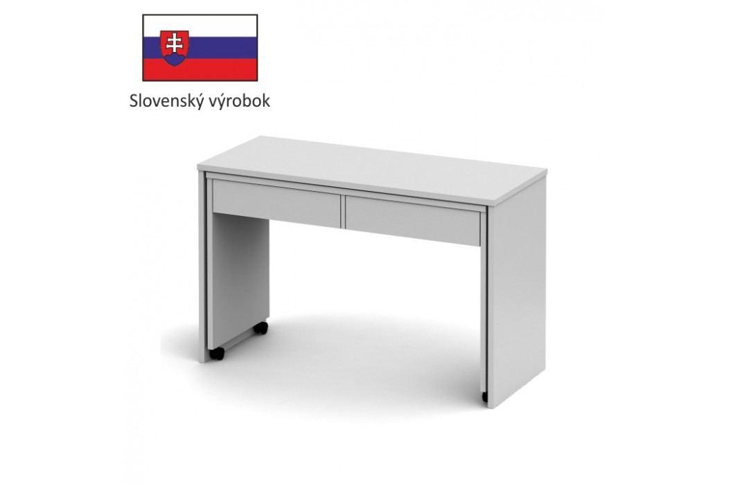 PC stůl rozkládací, bílá / bílá, VERSAL NEW