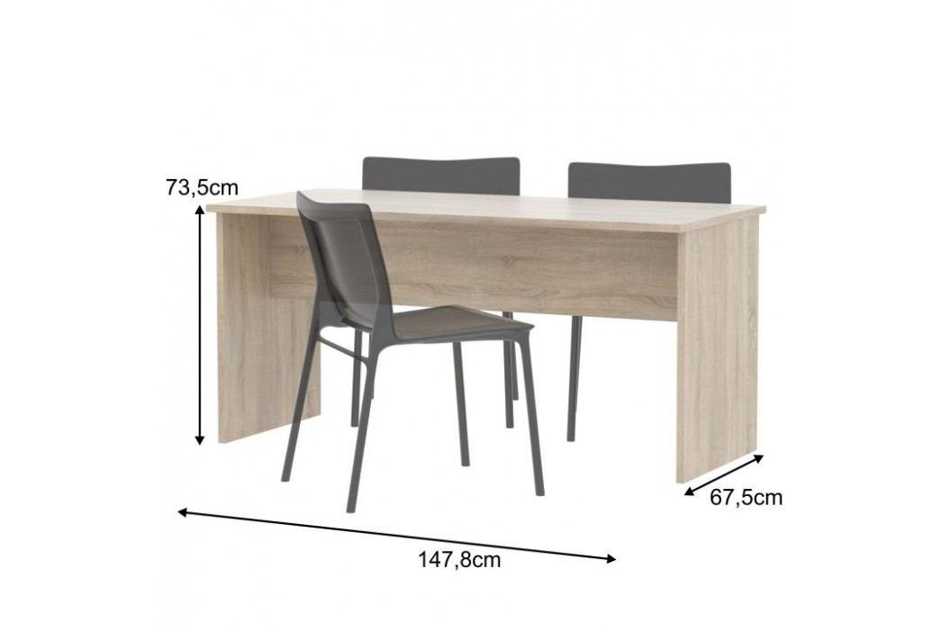 Kancelářský stůl oboustranný, dub sonoma, JOHAN 08