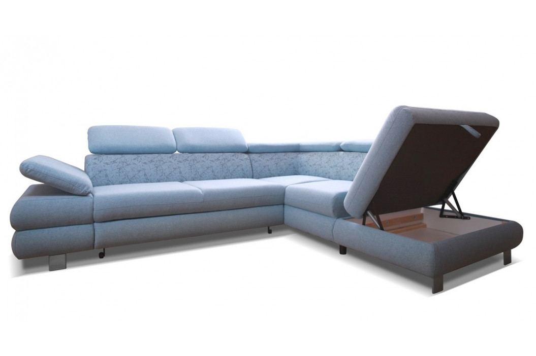 Rozkládací rohová sedačka s úložným prostorem a možností výběru barvy KN211