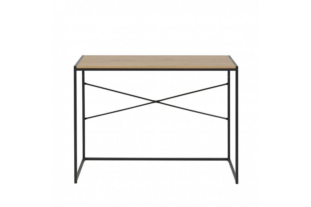 Pracovní stůl 100x45 v dekoru dub divoký s černou kovovou konstrukcí DO103