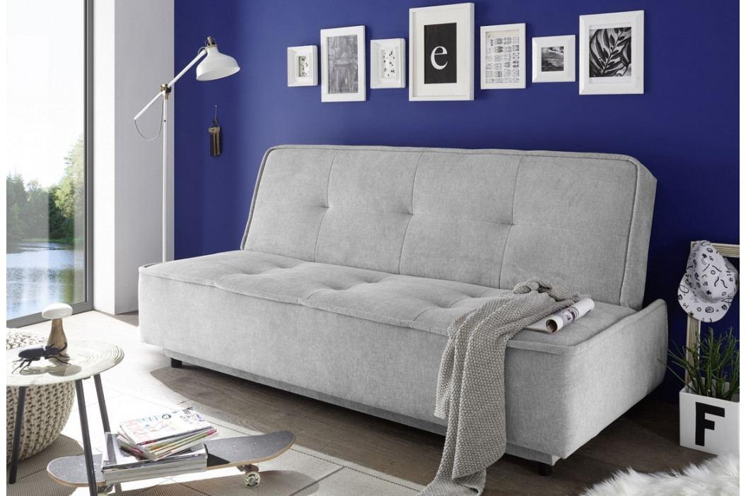 Rozkládací pohovka v šedé barvě s úložným prostorem KN1124