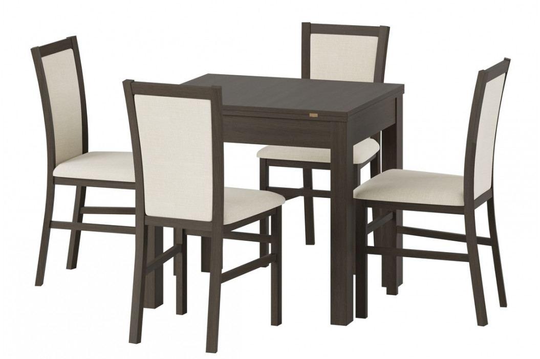 Rozkládací jídelní stůl 160x80 cm v dekoru wenge KN1169