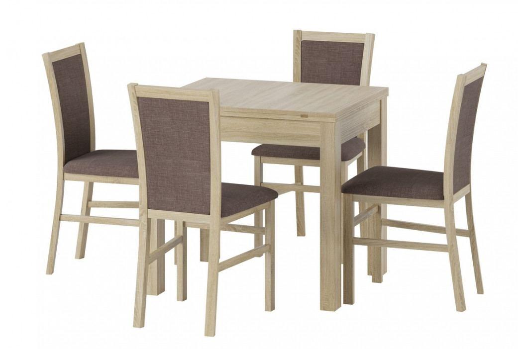 Rozkládací jídelní stůl 160x80 cm v dekoru dub sonoma KN1169