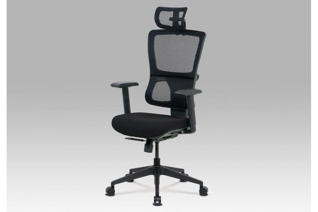 Kancelářská židle v černé barvě s područkami KA-M04 BK AKCE
