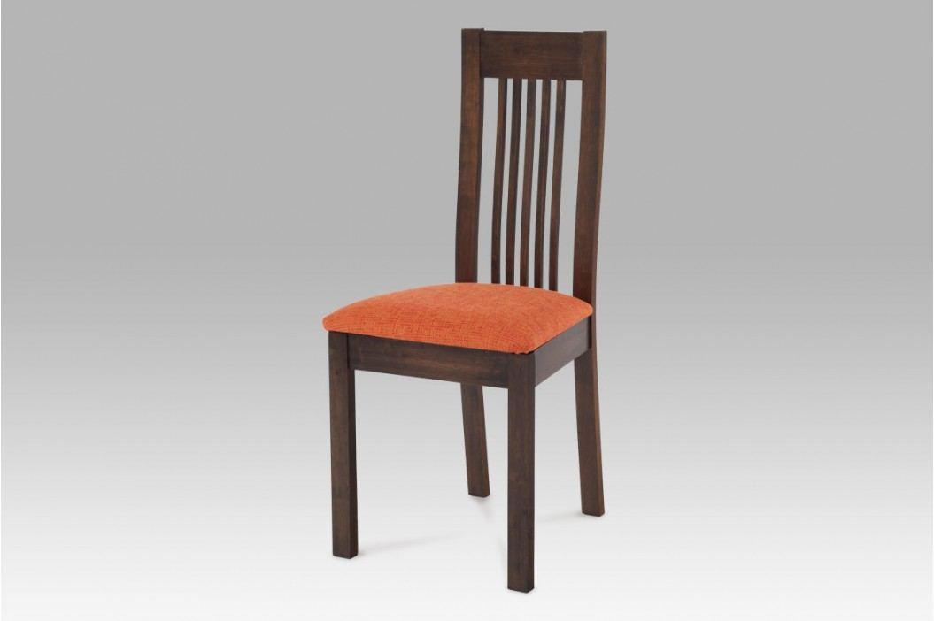 Jídelní židle dřevěná dekor ořech S PODSEDÁKEM NA VÝBĚR BE2601 WAL