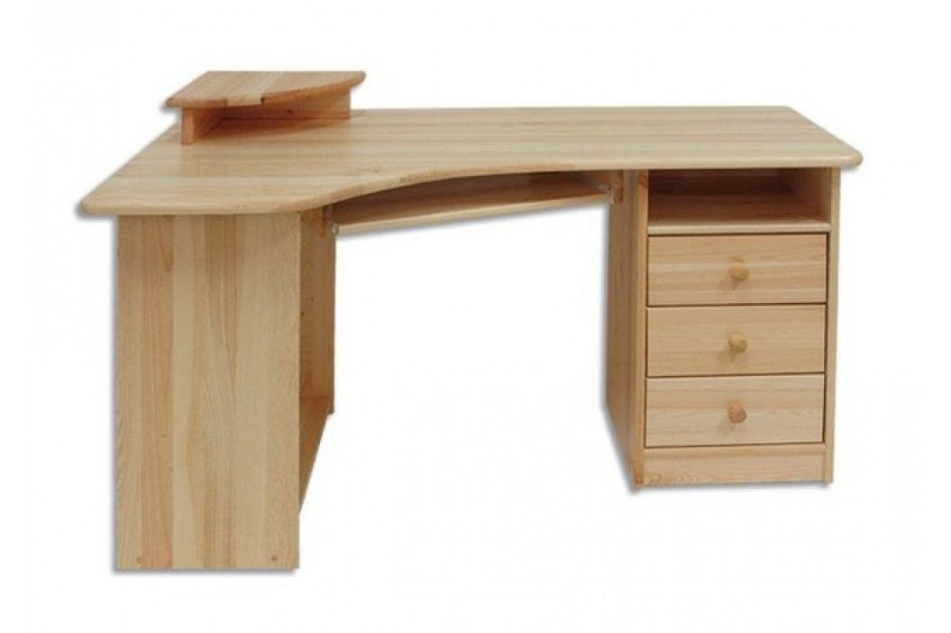Dřevěný pracovní rohový stůl se zásuvkami typ RB104 KN095