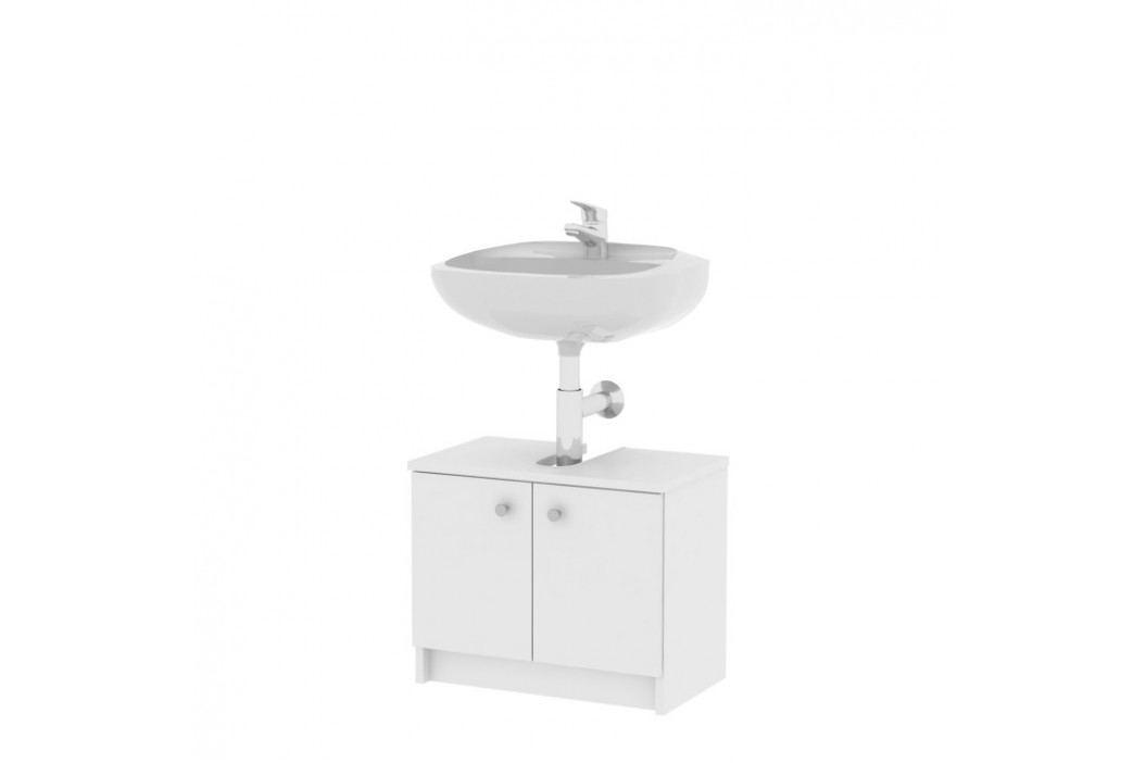 Skříňka pod umyvadlo, bílá, GALENA Si02