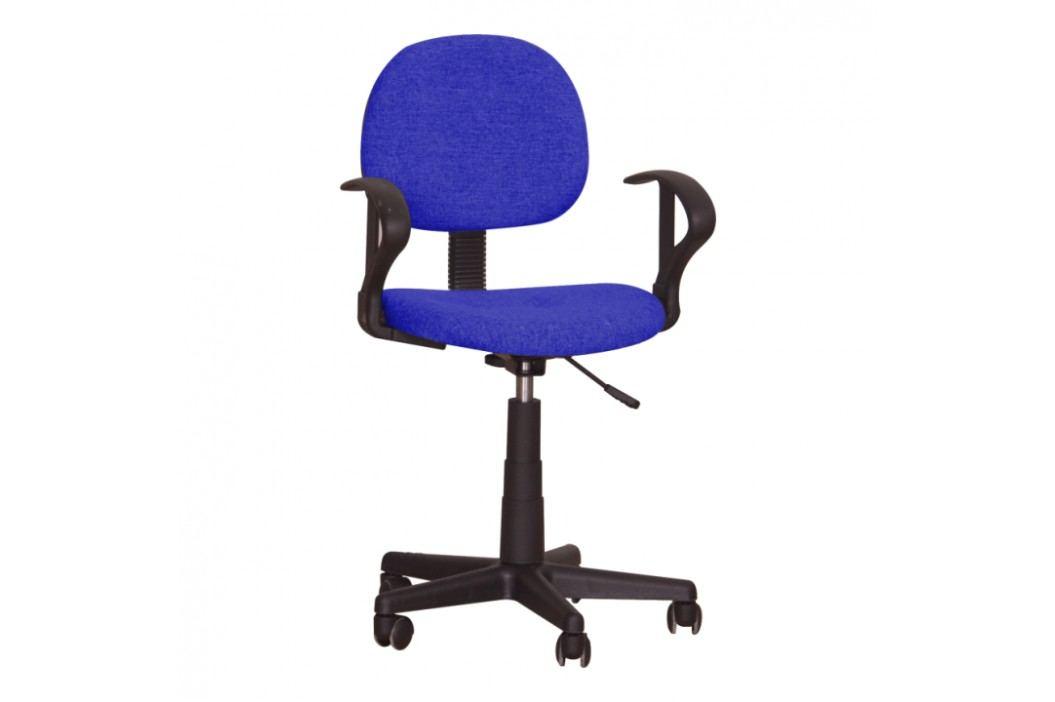 Kancelářská židle v jednoduchém moderním provedení modrá TC3-227 obrázek inspirace