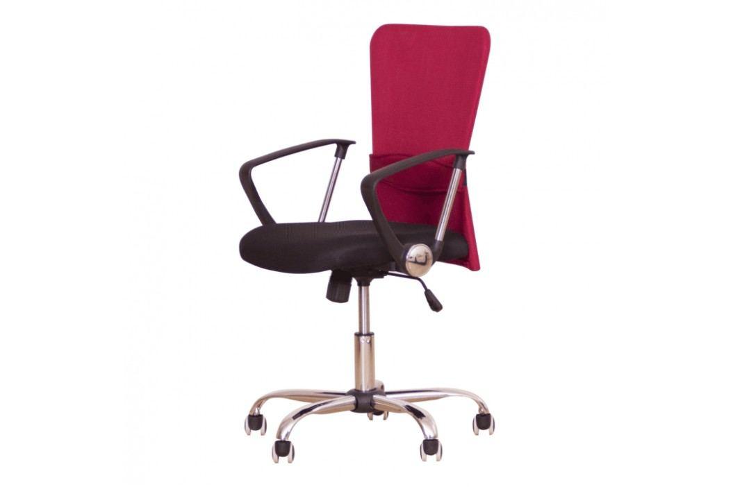 Kancelářské křeslo ve stylovém provedení červená AEX