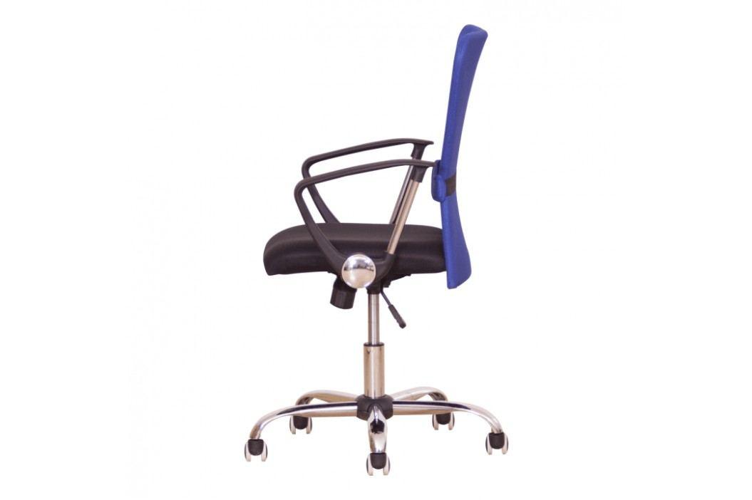 Kancelářské křeslo ve stylovém provedení modrá AEX