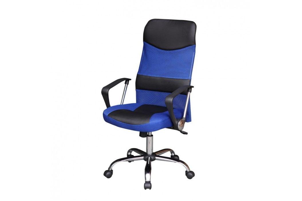 Kancelářské křeslo ve stylovém moderním provedení modrá TC3-973M