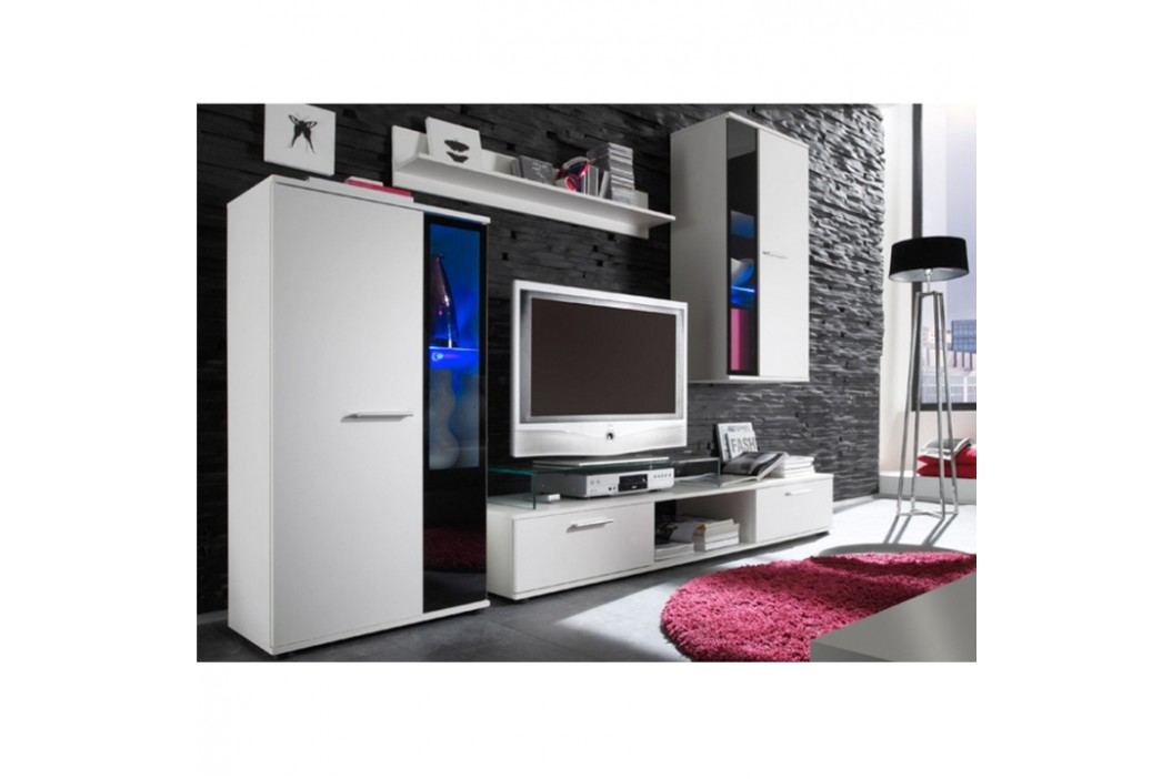 Obývací stěna bílá ve stylovém moderním provedení SALESA