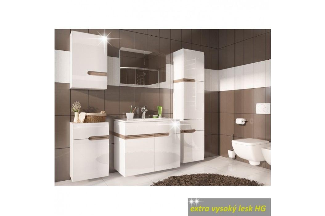 Skříňka s umyvadlem v luxusní bílé barvě ve vysokém lesku TK026 TYP 150