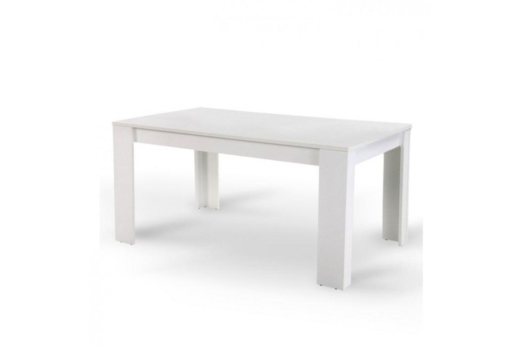 Jídelní stůl 160 v jednoduchém moderním designu bílá  TOMY
