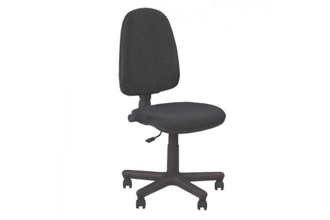 Kancelářské křeslo bez područek v jednoduchém moderním provedení černá JUPITER GTS