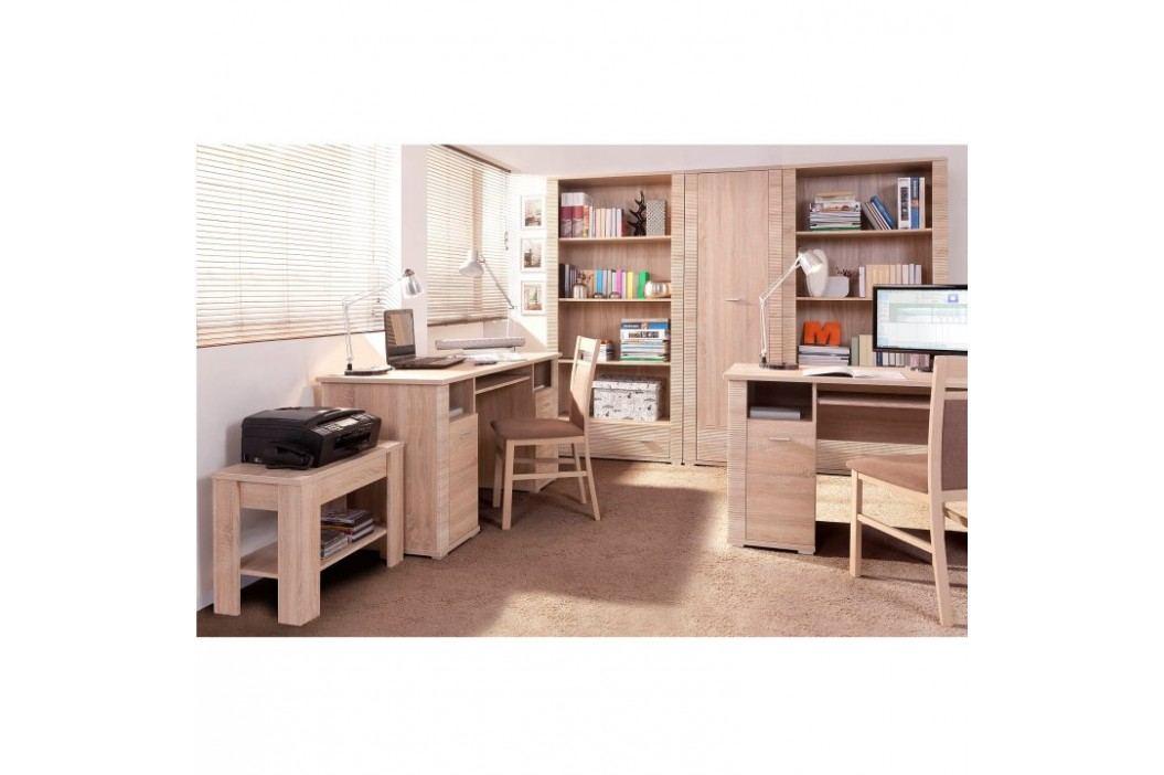 PC stůl v moderním dubovém provedení GRAND typ 22