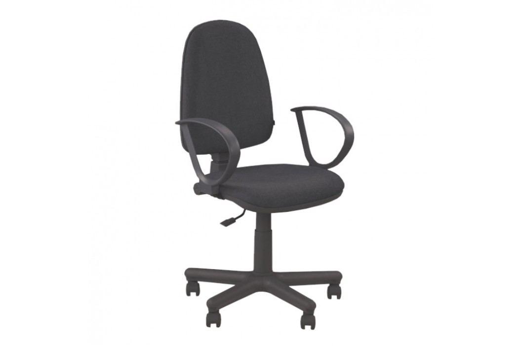 Kancelářské křeslo s područkami v jednoduchém moderním provedení černá JUPITER GTS