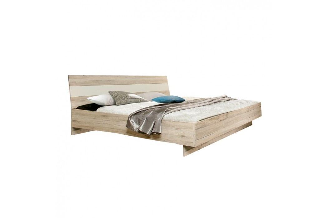 Postel, 180x200, dub pískový/bílá, VALERIA obrázek inspirace