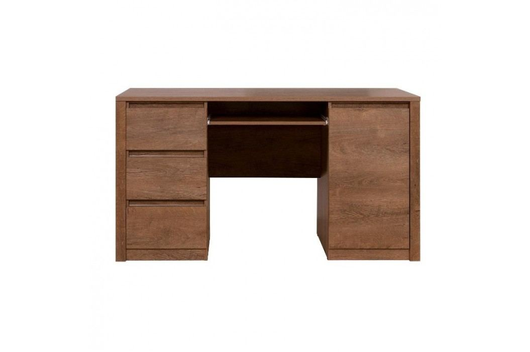 PC stolek v elegantním dubovém provedení  MONTE TYP 16