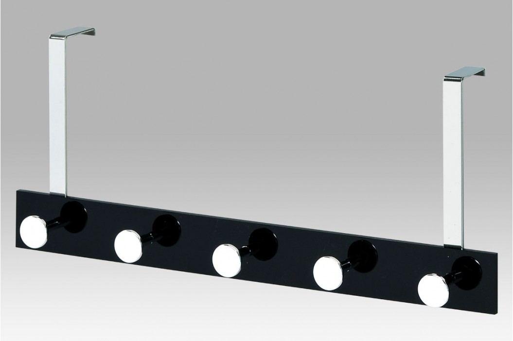 Věšák na dveře  5 háčků černý GC2480-5 BK