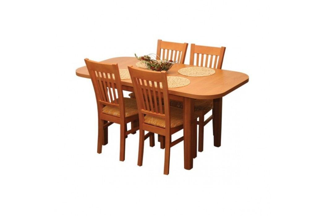 Jídelní stůl ovál, rozkládací ŠTEFAN S021