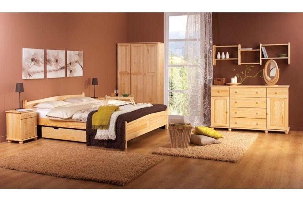 Klasická šatní skříň z borovicového dřeva typ FS104 KN095