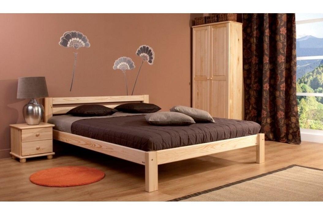 Klasická šatní skříň z borovicového dřeva se zásuvkami typ FS122 KN095