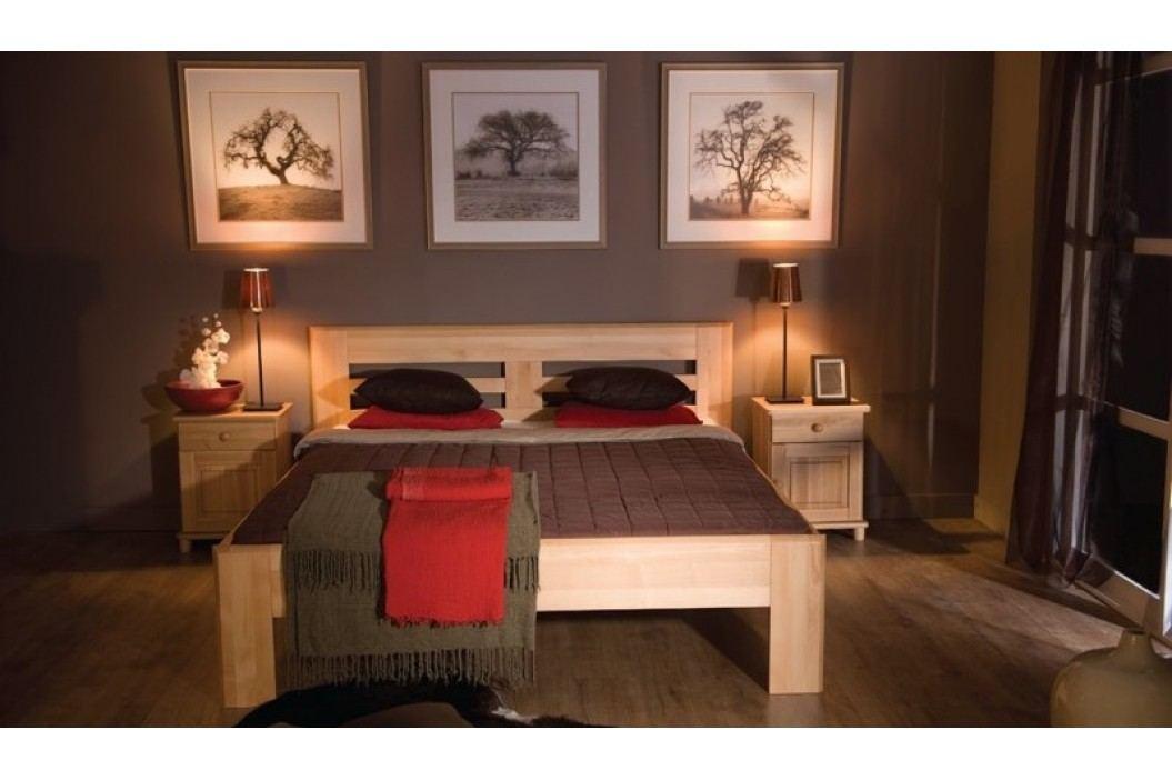 Dřevěná klasická postel o šířce 90 cm typ KL128 KN095