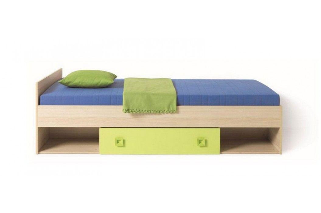 SUNNY postel se zásuvkou - zelená