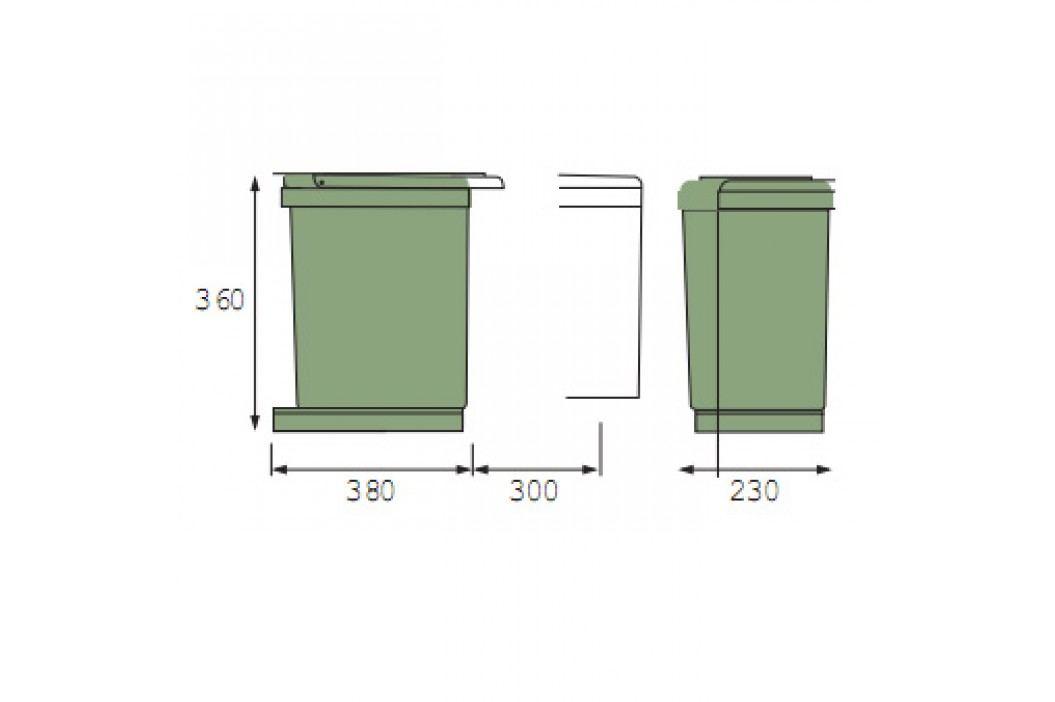 Vestavný odpadkový koš 2x7,5 l