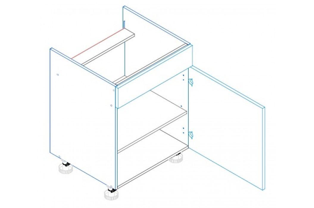 Skříňka dolní na varnou desku se záslepkou AMELIA D60 PC pravá obrázek inspirace
