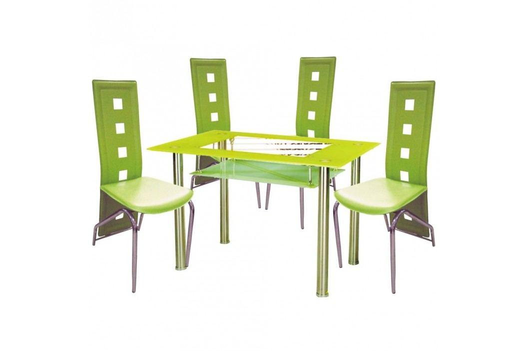 Jídelní židle F060 zelená