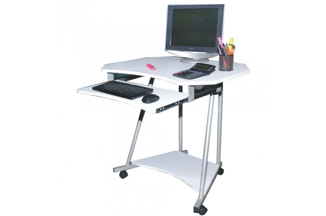 PC stůl F075 bílá