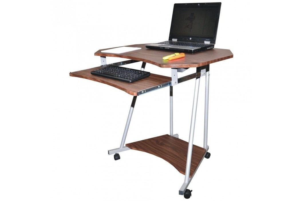 PC stůl F075 tmavý ořech