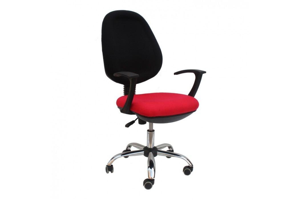 Kancelářské křeslo v jednoduchém moderním provedení červená BOBAN 802