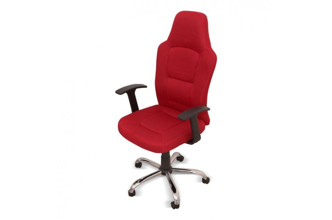 Kancelářské křeslo ve stylovém provedení červená VAN