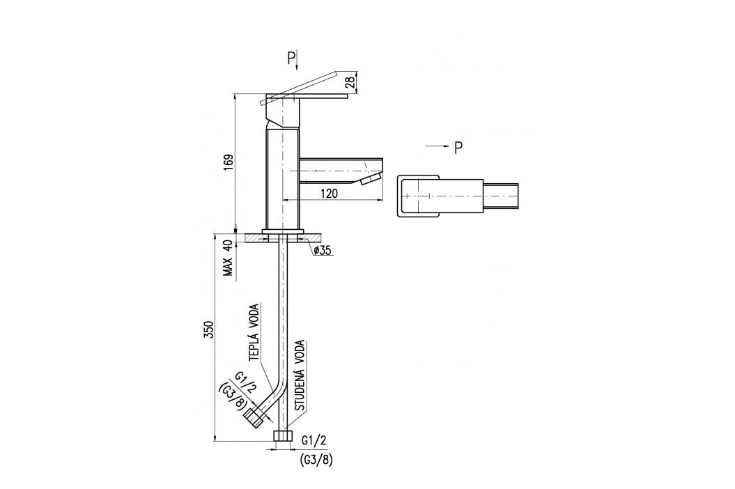 Baterie umyvadlová stojánková LOIRA LR526.0 chrom
