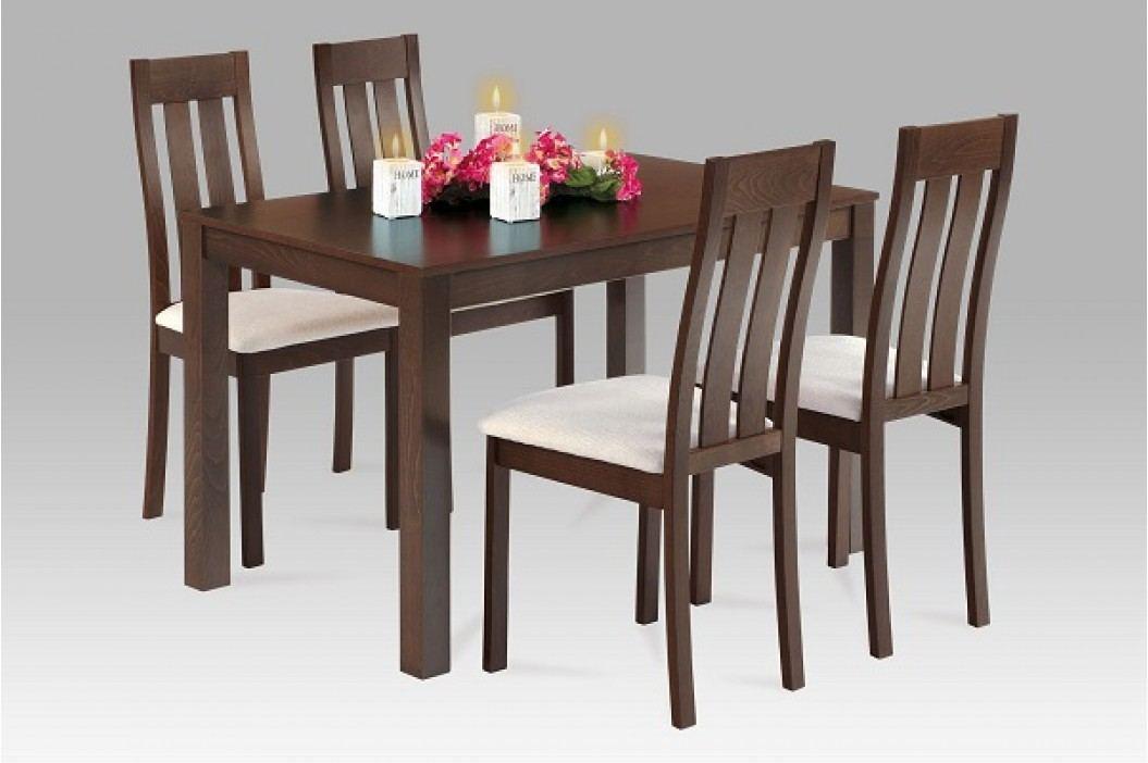 Jídelní stůl dřevěný 120 x 75 cm dekor ořech BT-6957 WAL