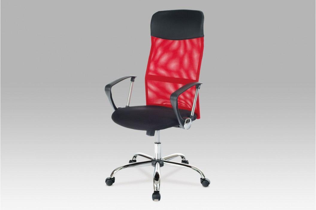 Kancelářské křeslo látka MESH černá a červená KA-E300 RED
