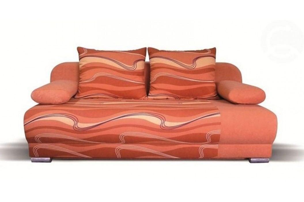 Pohovka moderní rozkládací oranžová F022