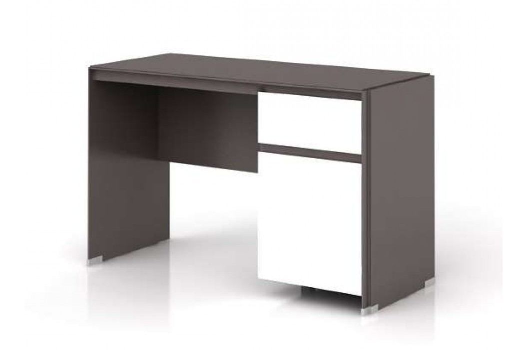 Psací stůl FINI BIU1D1S 7/12 šedý volfram/bílý mat