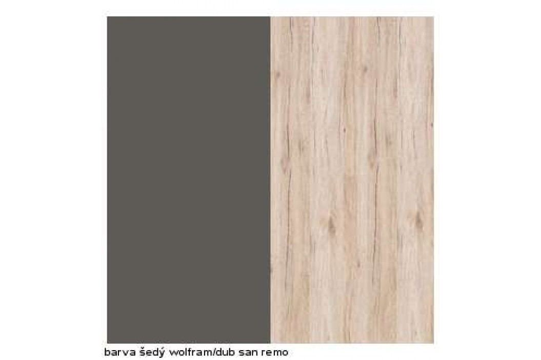 Psací stůl FINI BIU1D1S 7/12 šedý volfram/dub san remo světlý