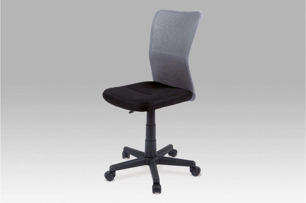 Kancelářská židle dětská šedá plynový píst KA-BORIS GREY