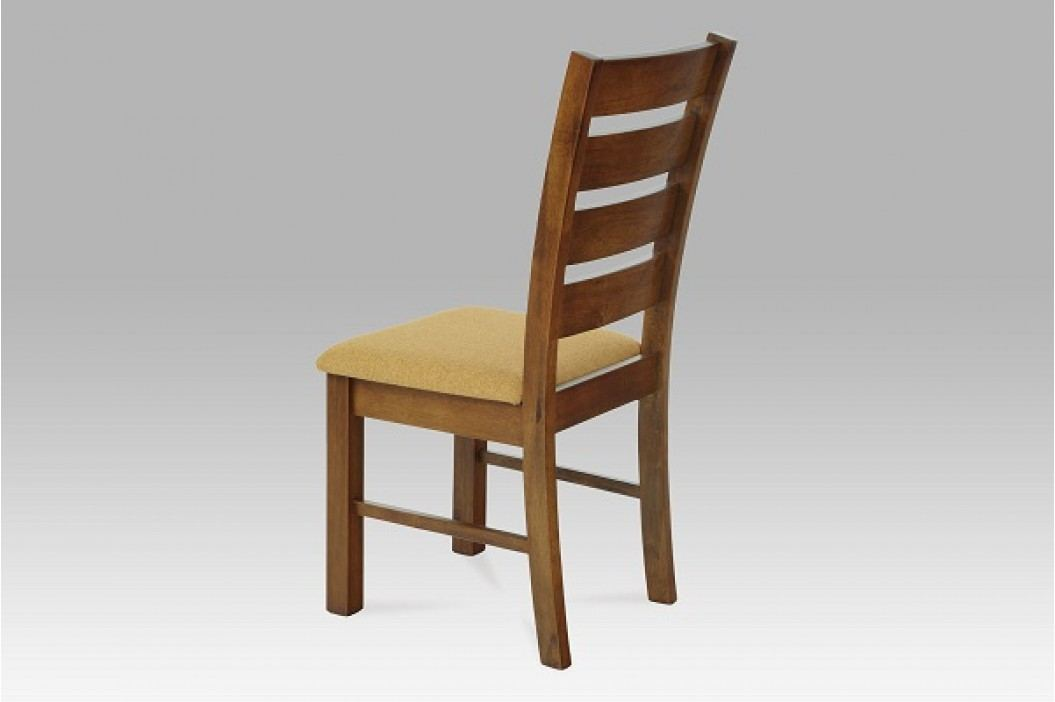 Jídelní židle dřevěná dekor ořech a potah písková látka WDC-181 WAL2