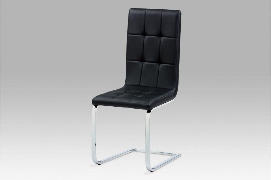 Jídelní židle ekokůže černá DCL-103 BK